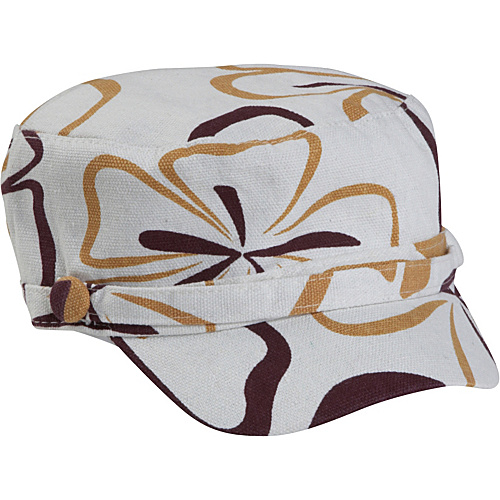 Magid Flower Page Cap - Camel/White