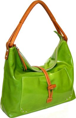 Nino Bossi Top Zip Shoulder Bag with Knotted Closure