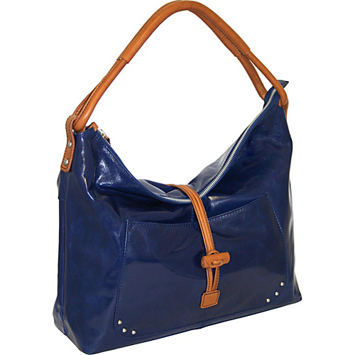 Nino Bossi Top Zip Shoulder Bag with Knotted Closure -