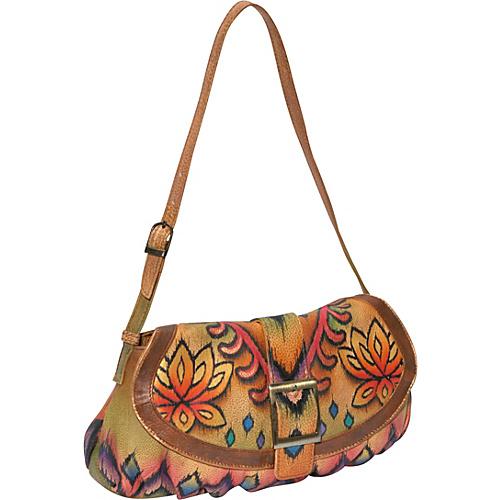Anuschka Small Ruched Flap Handbag - Incredible Ikat -