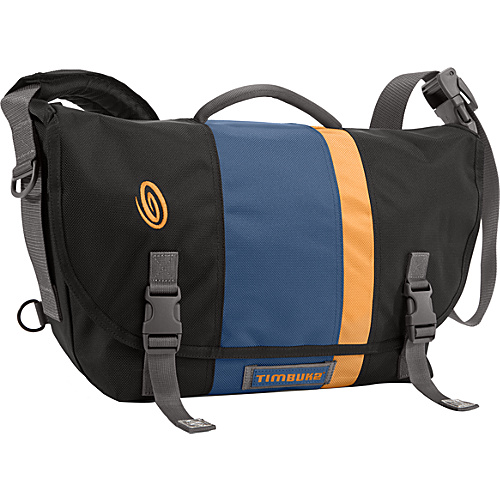 Timbuk2 D-Lux Laptop Racing Stripe Messenger - S Black/Dusk Blue/Mustard Yellow/Black - Timbuk2 Laptop Messenger Bags