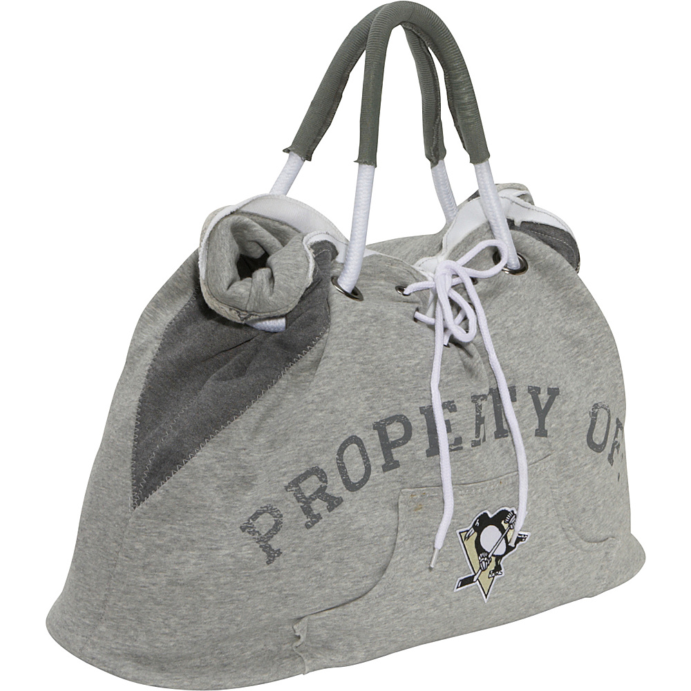 Littlearth NHL Hoodie Tote Grey/Pittsburgh Penguins Pittsburgh Penguins - Littlearth Fabric Handbags - Handbags, Fabric Handbags