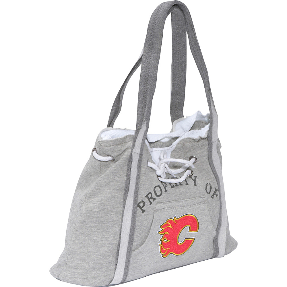 Littlearth NHL Hoodie Purse Grey/Calgary Flames Calgary Flames - Littlearth Fabric Handbags - Handbags, Fabric Handbags