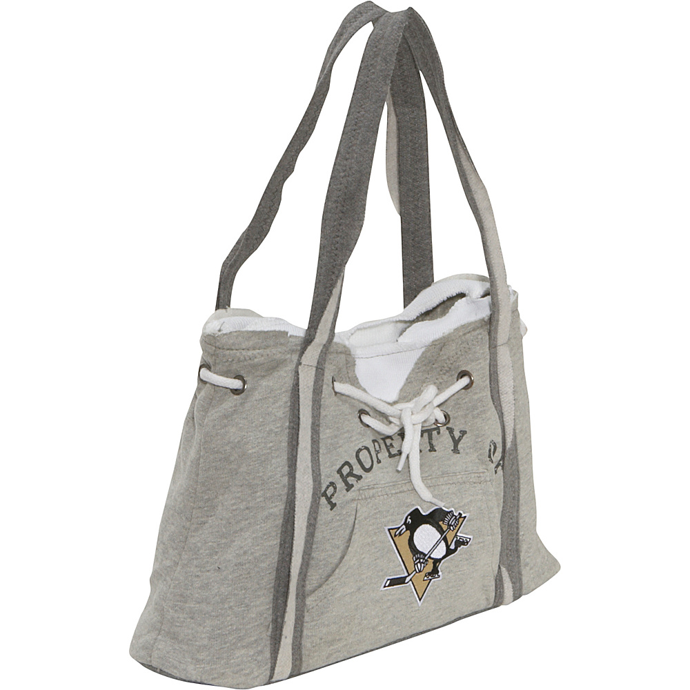 Littlearth NHL Hoodie Purse Grey/Pittsburgh Penguins Pittsburgh Penguins - Littlearth Fabric Handbags - Handbags, Fabric Handbags