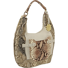 George 5 Mixed Media Belted Pocket Hobo GOLD SNAKE
