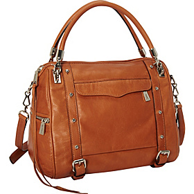 Cupid Flap Pocket Satchel Almond