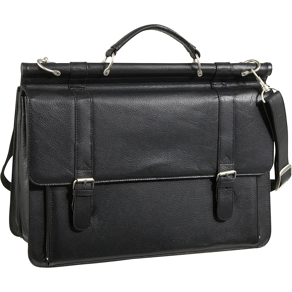 AmeriLeather Leather Executive Briefcase - Black - Work Bags & Briefcases, Non-Wheeled Business Cases