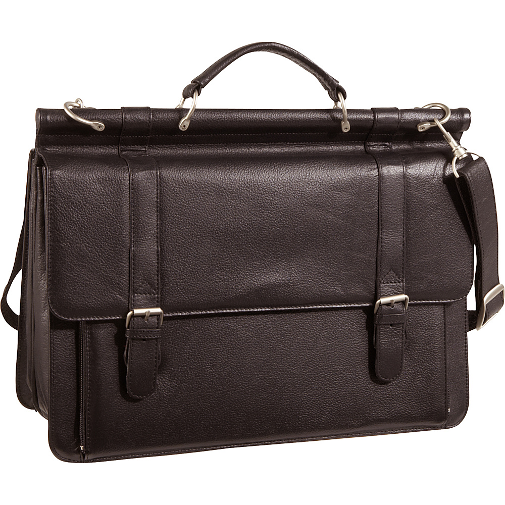 AmeriLeather Leather Executive Briefcase Waxy Brown - AmeriLeather Non-Wheeled Business Cases - Work Bags & Briefcases, Non-Wheeled Business Cases