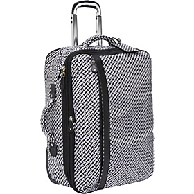 On The Go 21'' Rolling Exp Carry-On Black/White