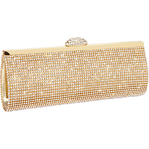 J. Furmani Fully Crystal Evening Bag Gold - J. Furmani Evening Bags
