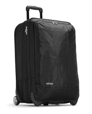 eBags TLS 25 inch Expandable Upright Solid Black - eBags Softside Checked