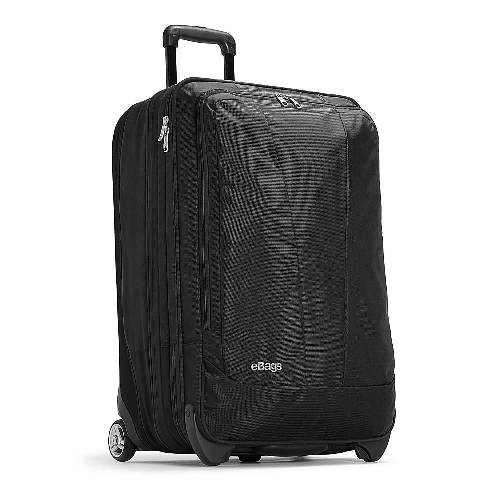 eBags TLS 25 Expandable Upright Solid Black - eBags Softside Checked - Luggage, Softside Checked