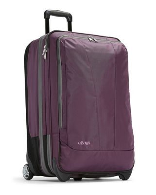 eBags TLS 25 inch Expandable Upright Eggplant - eBags Softside Checked