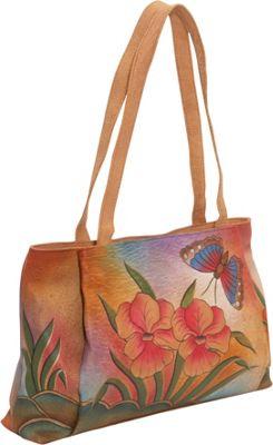 ANNA by Anuschka ANNA by Anuschka Large Shopper - Floral Butterfly Floral Butterfly - ANNA by Anuschka Leather Handbags