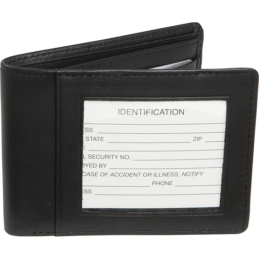 Royce Leather RFID Blocking Double ID Flat Fold Wallet Black - Royce Leather Mens Wallets - Work Bags & Briefcases, Men's Wallets