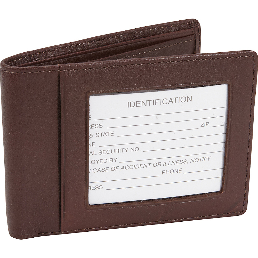 Royce Leather RFID Blocking Double ID Flat Fold Wallet Coco/Coco - Royce Leather Mens Wallets - Work Bags & Briefcases, Men's Wallets