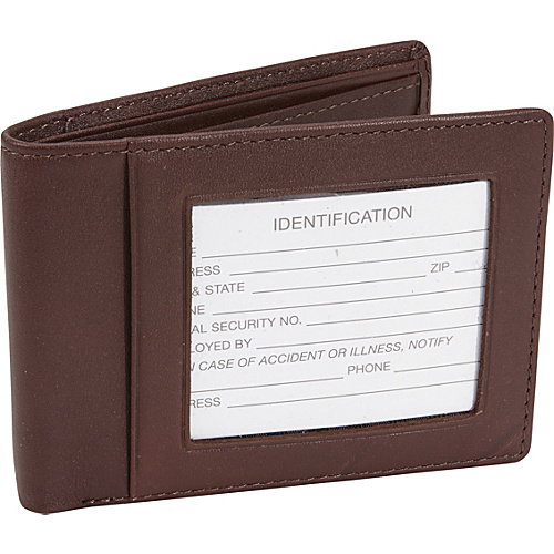 Royce Leather RFID Blocking Double ID Flat Fold Wallet Coco/Coco - Royce Leather Mens Wallets