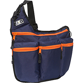 Navy With Orange Zipper  Navy With Orange