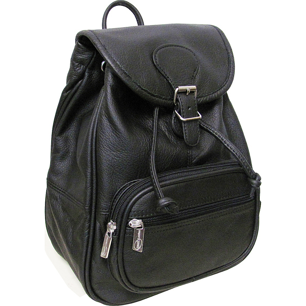 AmeriLeather Ladies Leather Backpack - Black - Handbags, Leather Handbags