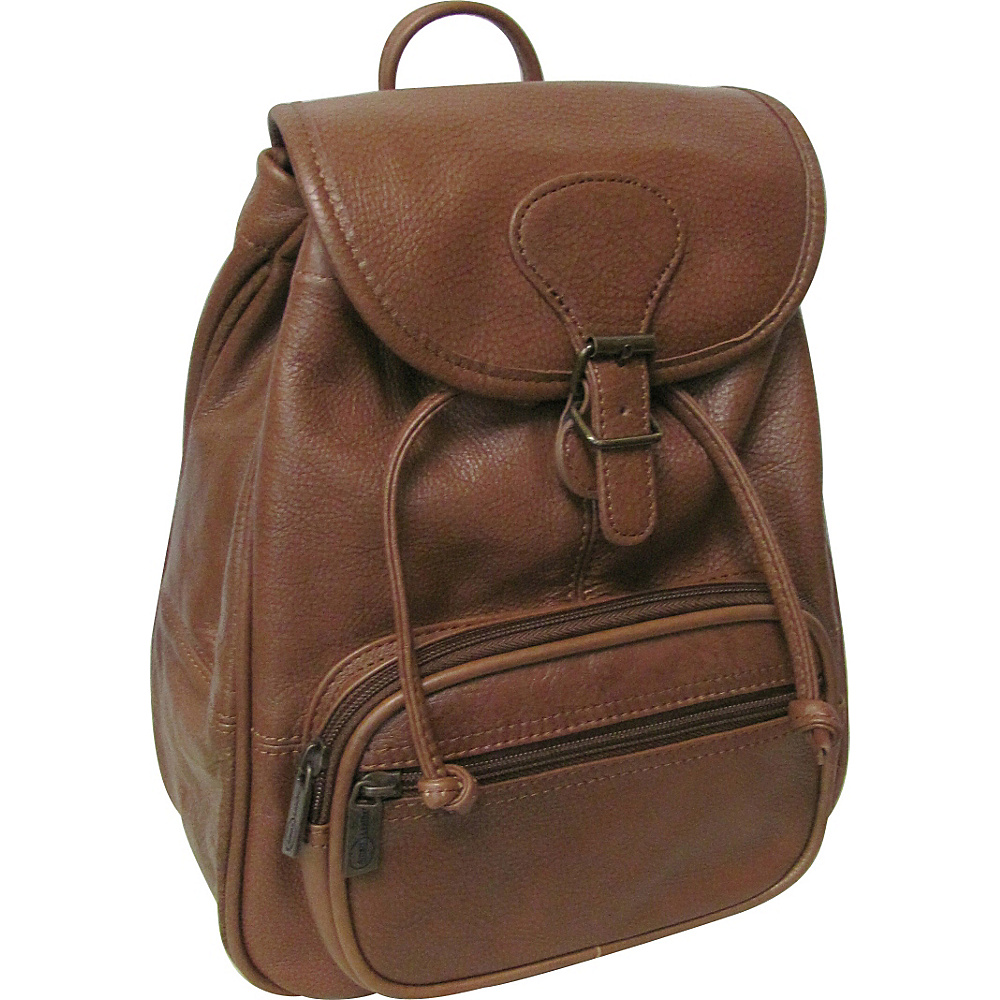 AmeriLeather Ladies Leather Backpack Brown - AmeriLeather Leather Handbags - Handbags, Leather Handbags