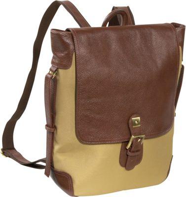 AmeriLeather Two-tone Backpack - Shoulder Bag