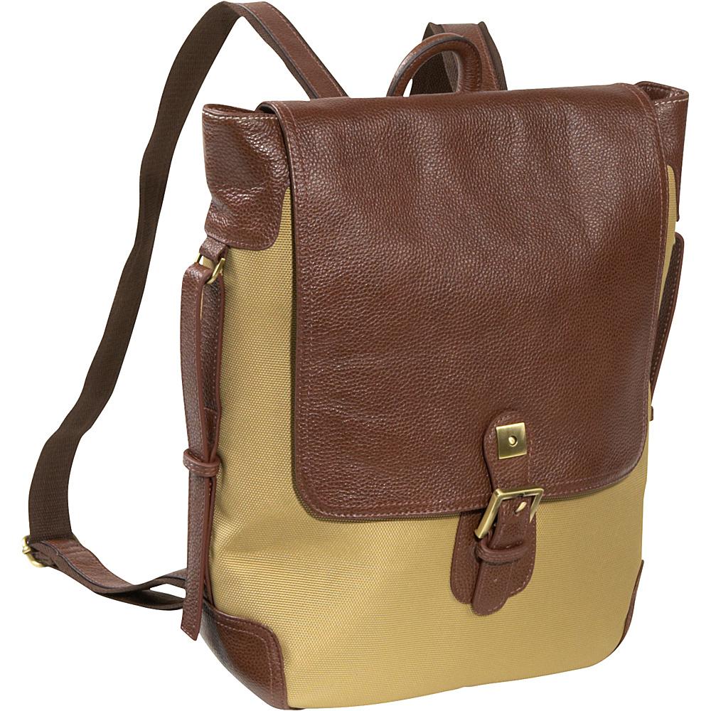 AmeriLeather Two-tone Backpack - Shoulder Bag - Backpacks, Everyday Backpacks