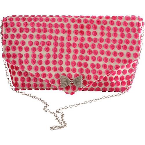 Baxter Designs Envelope Polka Dot Pink - Baxter Designs Evening Bags