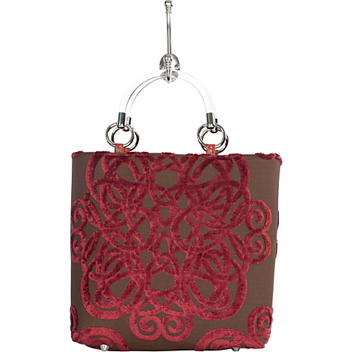 Baxter Designs Small Filigree Tote Ruby
