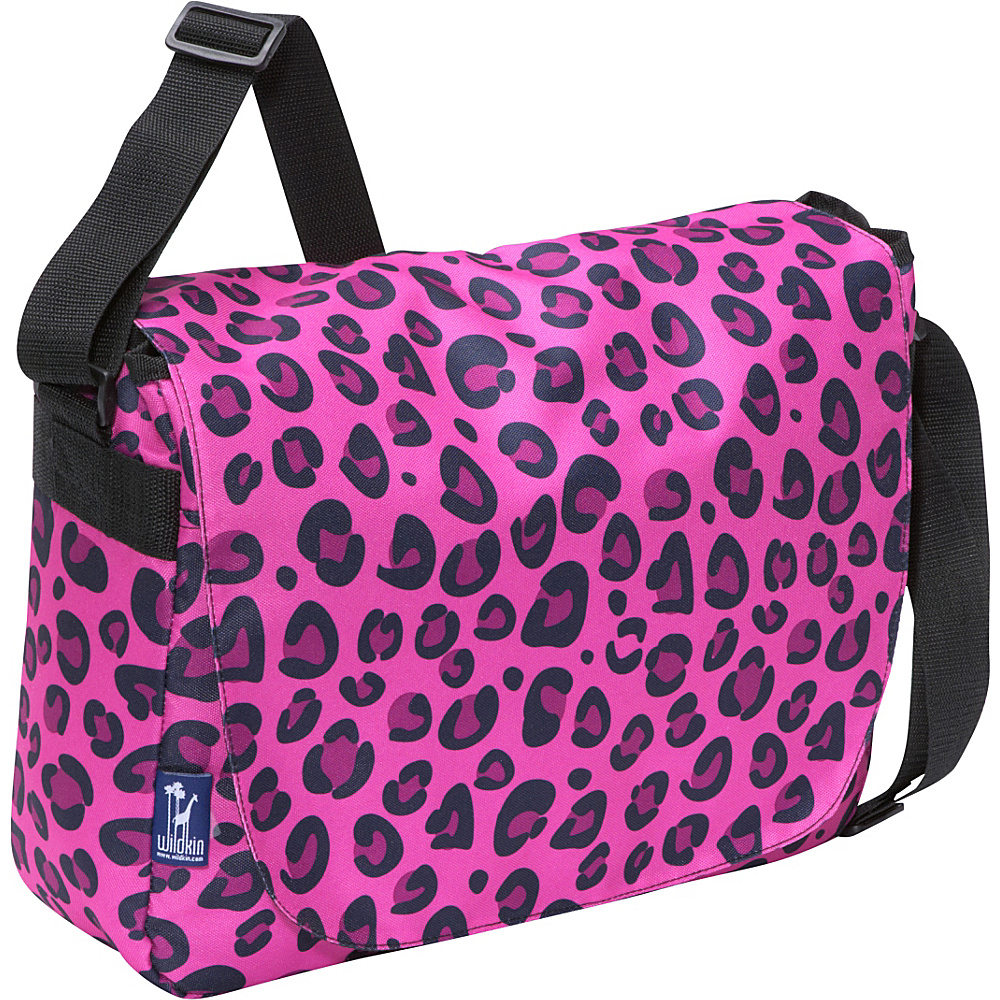 Wildkin Pink Leopard Laptop Messenger Bag - Pink - Work Bags & Briefcases, Messenger Bags