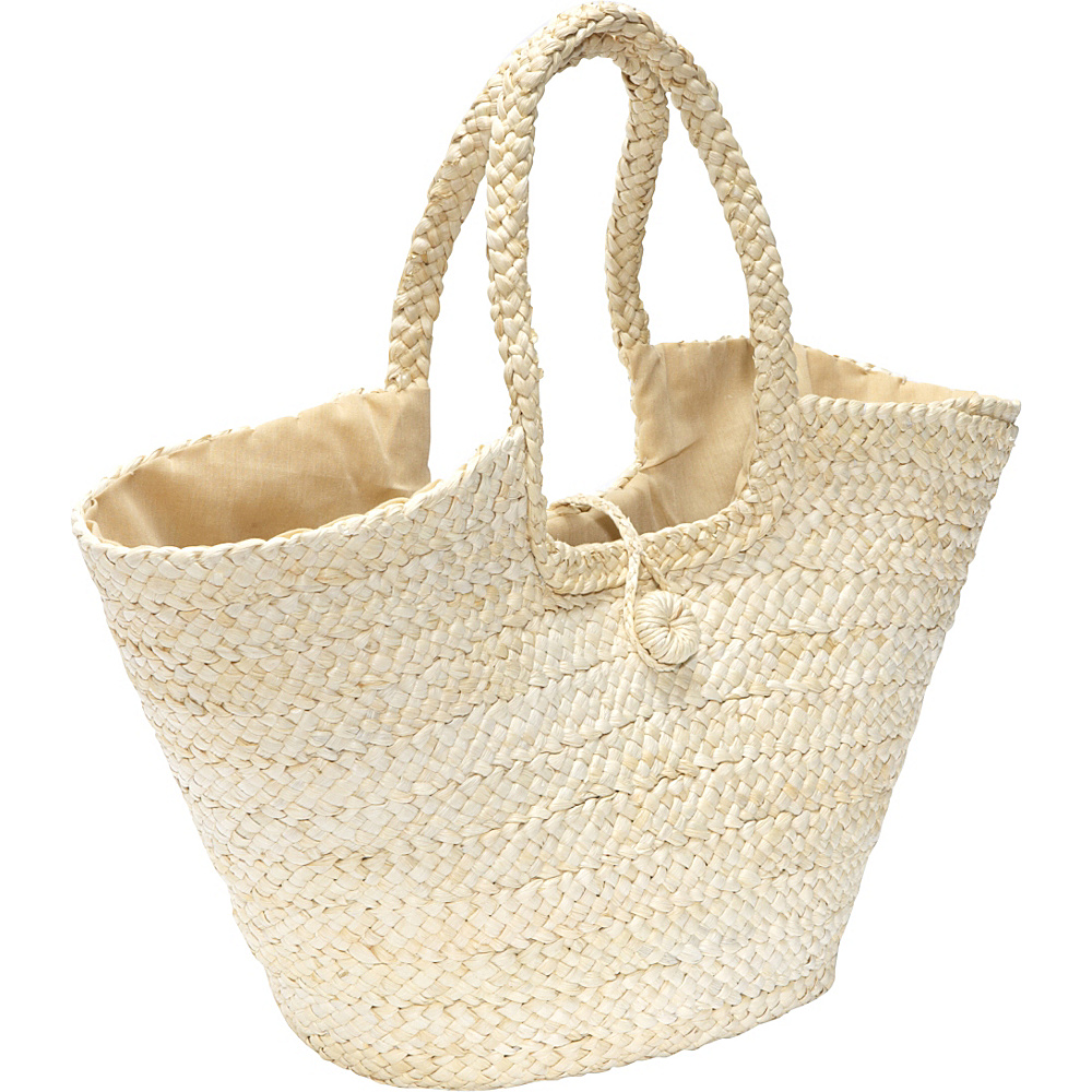 San Diego Hat Cornhusk Beach Bag Natural - San Diego Hat Fabric Handbags