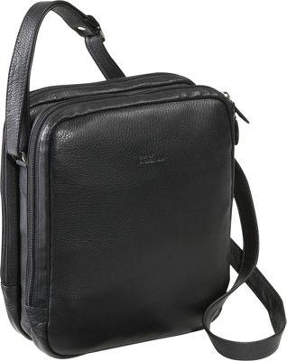 Derek Alexander Two Top Zip With Organizer Black - Derek Alexander Leather Handbags