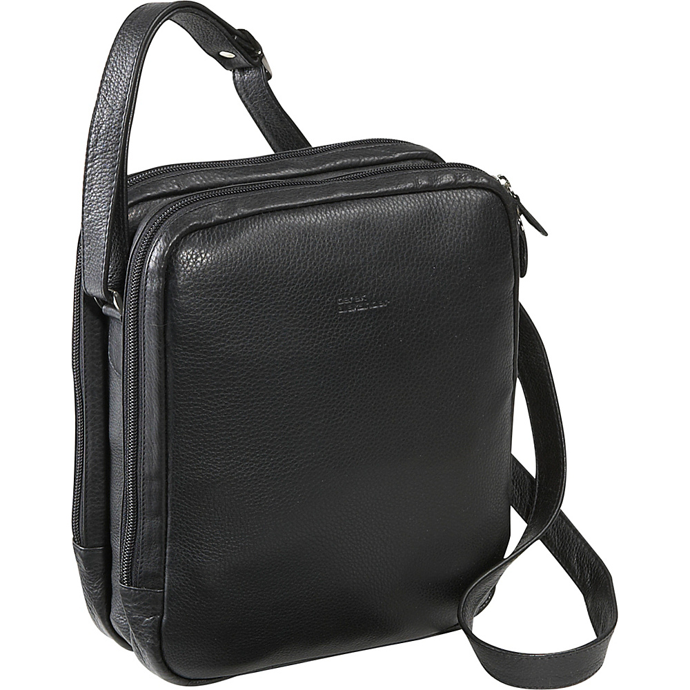 Derek Alexander Two Top Zip With Organizer Black - Derek Alexander Leather Handbags - Handbags, Leather Handbags