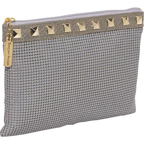 Whiting and Davis Studs & Snake Pouch - Grey