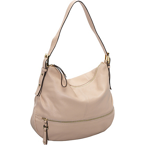 B. Makowsky Burnett Python Embossed Trim N/S Hobo Vanilla - B. Makowsky Leather Handbags