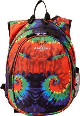 Obersee Kids Pre-School Tie-Dye Backpack with Integrated Lunch Cooler Tie Dye - Obersee Everyday Backpacks