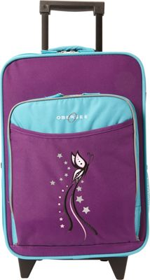 Obersee Kids Butterfly 16 inch Upright Turquoise Butterfly - Obersee Softside Carry-On