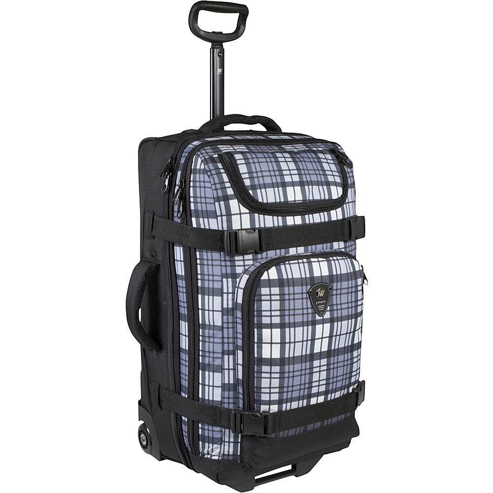 J World Vinewood 25 Wheeled Duffle - Tartan Grey - Luggage, Rolling Duffels
