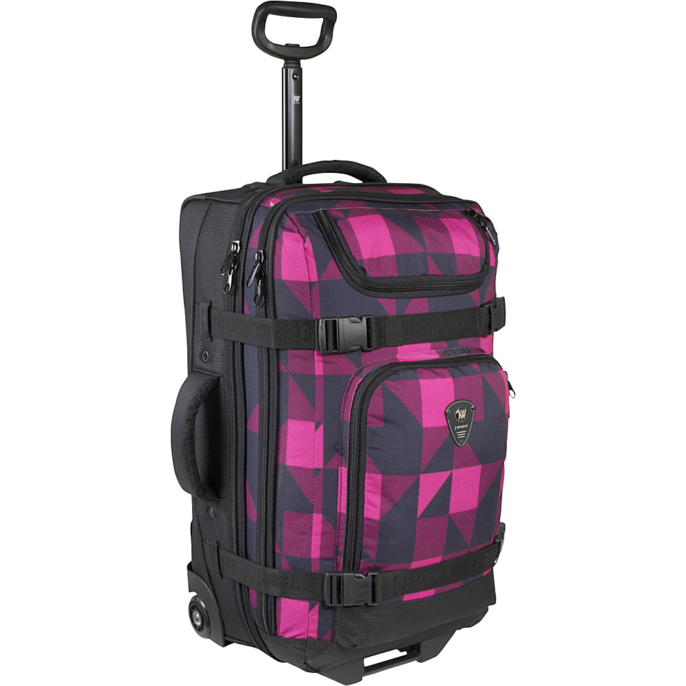 J World Vinewood 25 Wheeled Duffle - Block Pink - Luggage, Rolling Duffels