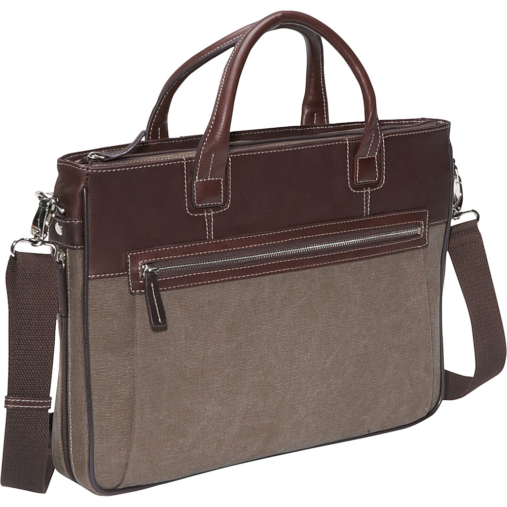 Bellino Autumn Slim Expandable iPad Brief Brown - Bellino Non-Wheeled Business Cases - Work Bags & Briefcases, Non-Wheeled Business Cases