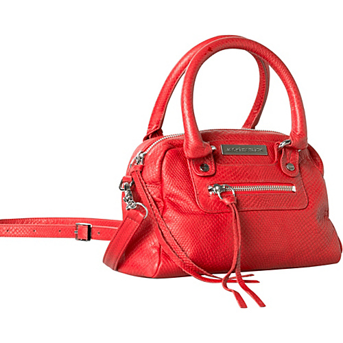 Jacki Easlick Mini Satchel Red African Cobra - Jacki Easlick Leather Handbags