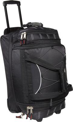 Athalon 21 inch Equipment CarryOn Duffel w/ Wheels Black - Athalon Travel Duffels
