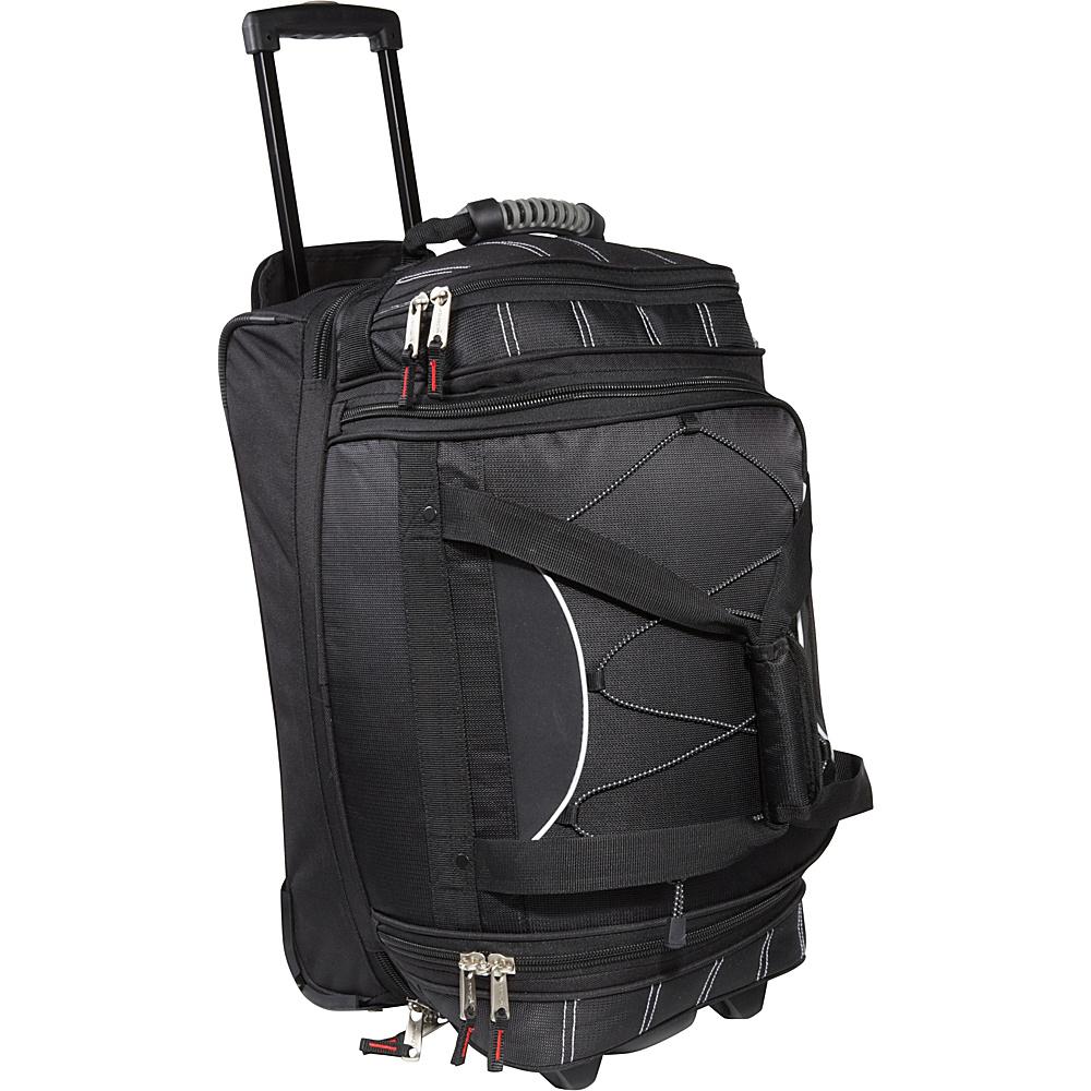 Athalon 21 Equipment CarryOn Duffel w Wheels Black Athalon Travel Duffels