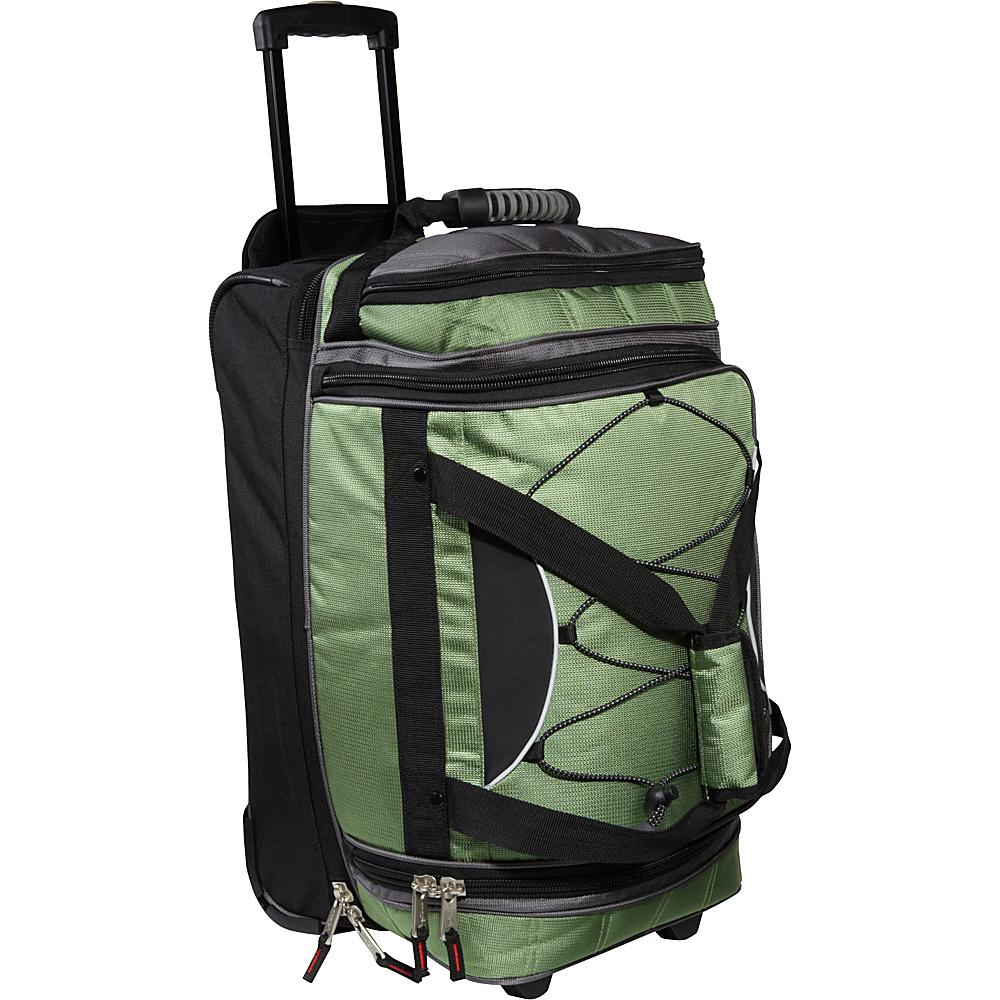 Athalon 21 Equipment CarryOn Duffel w Wheels Grass Green Athalon Travel Duffels
