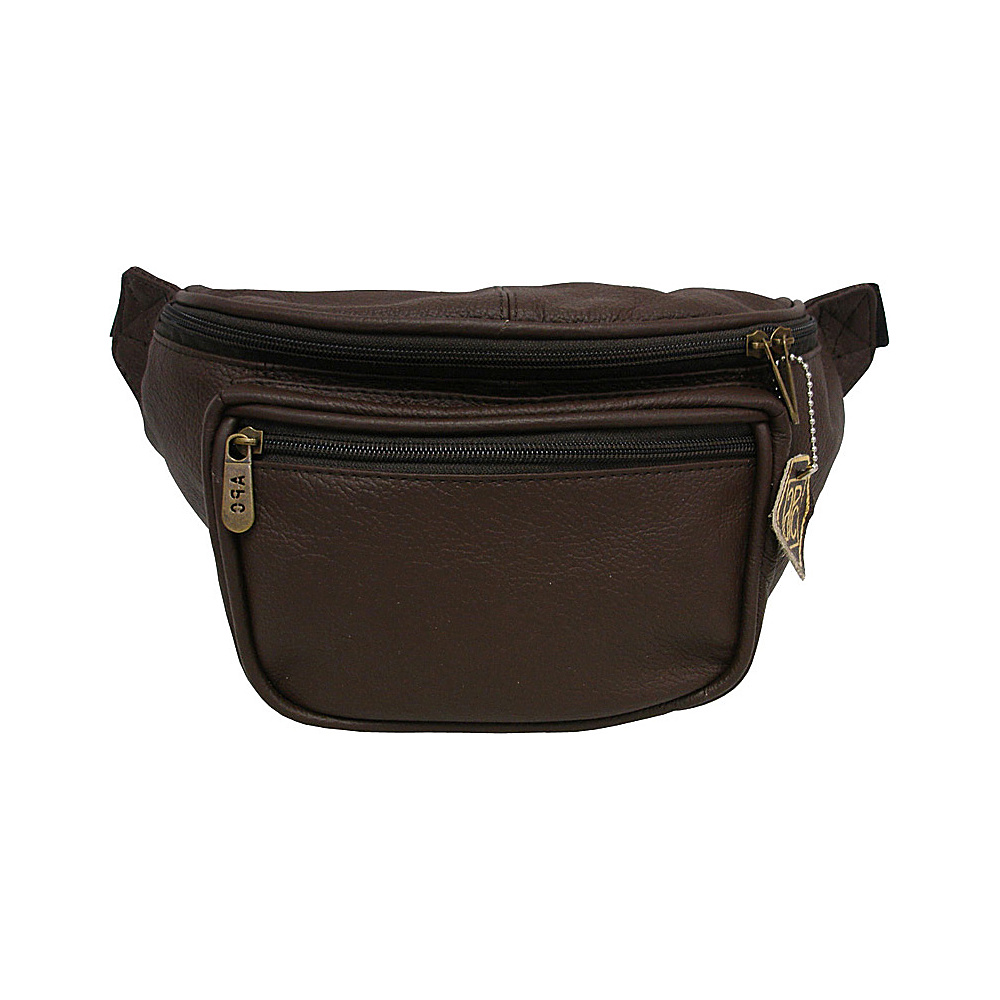 AmeriLeather Large Waist Pouch Waxy Brown - AmeriLeather Waist Packs - Backpacks, Waist Packs