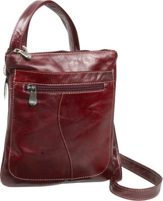 David King & Co. Florentine Slender Shoulder Bag Cherry - David King & Co. Leather Handbags