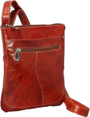 David King & Co. Florentine Slender Shoulder Bag Honey - David King & Co. Leather Handbags