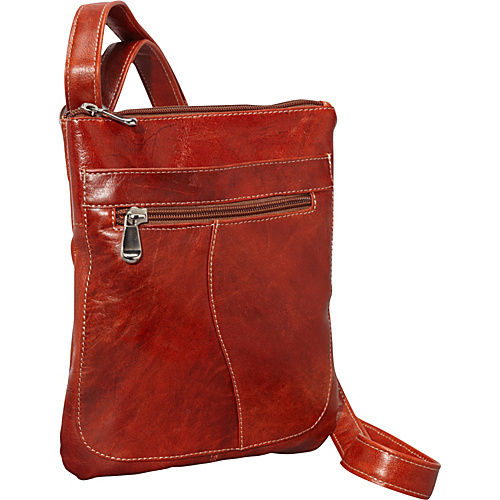 David King & Co. Florentine Slender Shoulder Bag Honey - David King & Co. Leather Handbags
