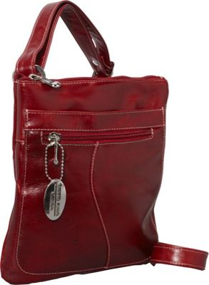 David King & Co. David King & Co. Florentine Slender Shoulder Bag Red - David King & Co. Leather Handbags