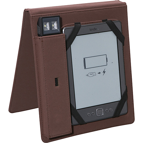 Periscope Cover & Light Flip for Kindle Wi-Fi, Kindle Touch, and nook Simple Touch Brown - Periscope Personal Electronic Cases