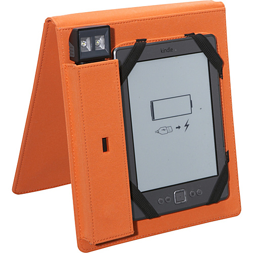 Periscope Cover & Light Flip for Kindle Wi-Fi, Kindle Touch, and nook Simple Touch Orange - Periscope Personal Electronic Cases